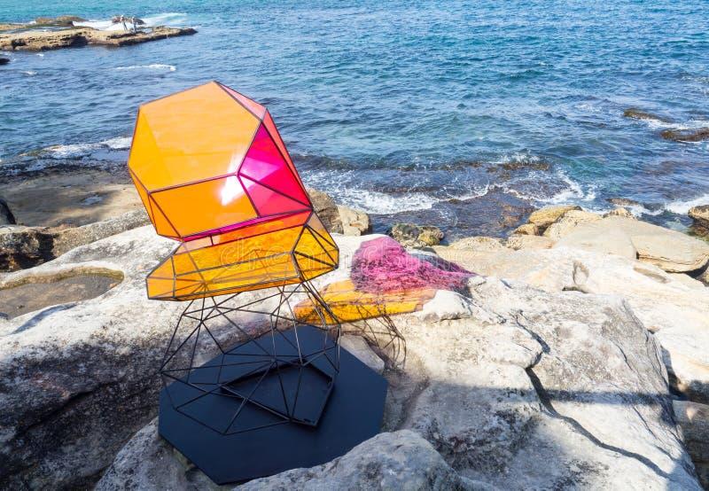 El 'mojón 'es ilustraciones esculturales por el rossi de Alejandra en la escultura por los acontecimientos anuales del mar libres fotografía de archivo
