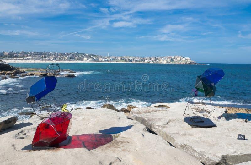 El 'mojón 'es ilustraciones esculturales por el rossi de Alejandra en la escultura por los acontecimientos anuales del mar libres foto de archivo