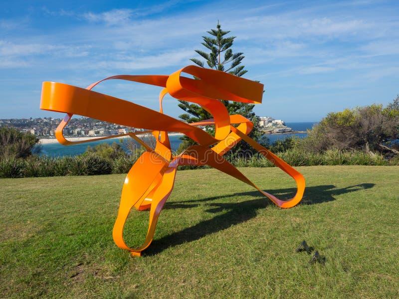 El 'viraje uno 'es ilustraciones esculturales de Jim Flook en la escultura por los acontecimientos anuales del mar libres al públ fotos de archivo libres de regalías