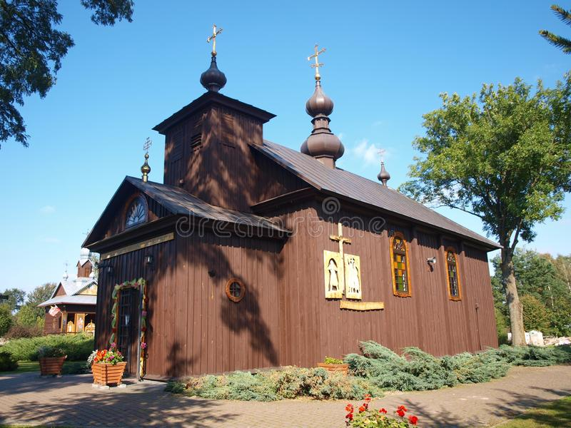 El 'de KostomÅ oty une la iglesia, Polonia imagen de archivo