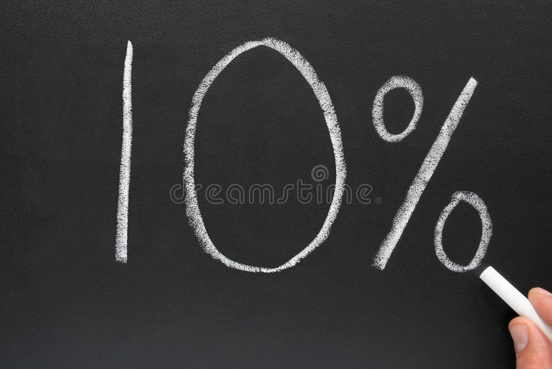 el 10% fotos de archivo