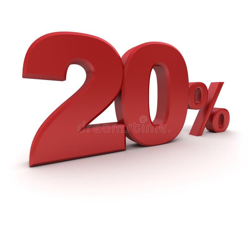 el 20% ilustración del vector