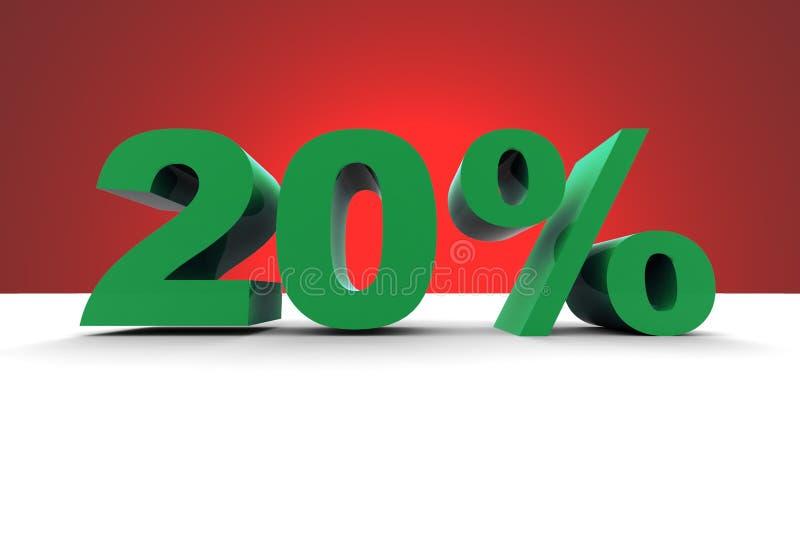 el 20% con el fondo del proyector stock de ilustración