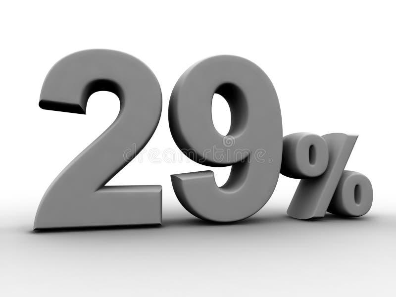 El 29 por ciento libre illustration