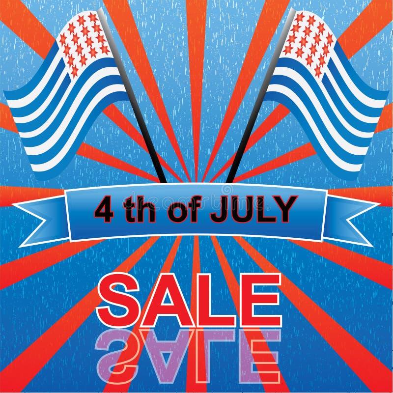 el 4 de julio stock de ilustración