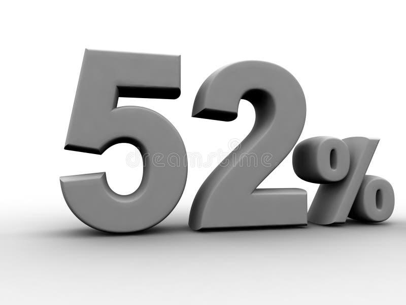El 52 por ciento