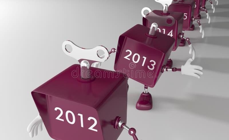El Año Nuevo 2013 se está acercando libre illustration