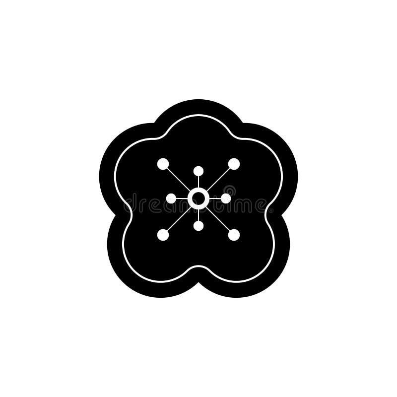 El Año Nuevo, China, flor, icono del flor del ciruelo se puede utilizar para la web, logotipo, app móvil, UI, UX libre illustration