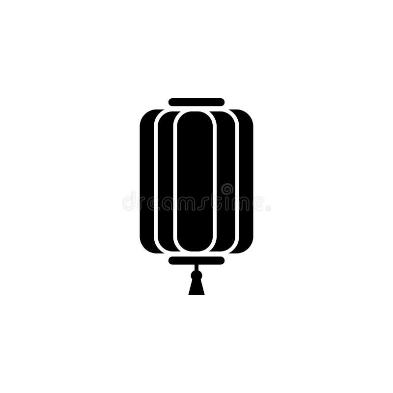 El Año Nuevo, China, icono de la linterna se puede utilizar para la web, logotipo, app móvil, UI, UX stock de ilustración
