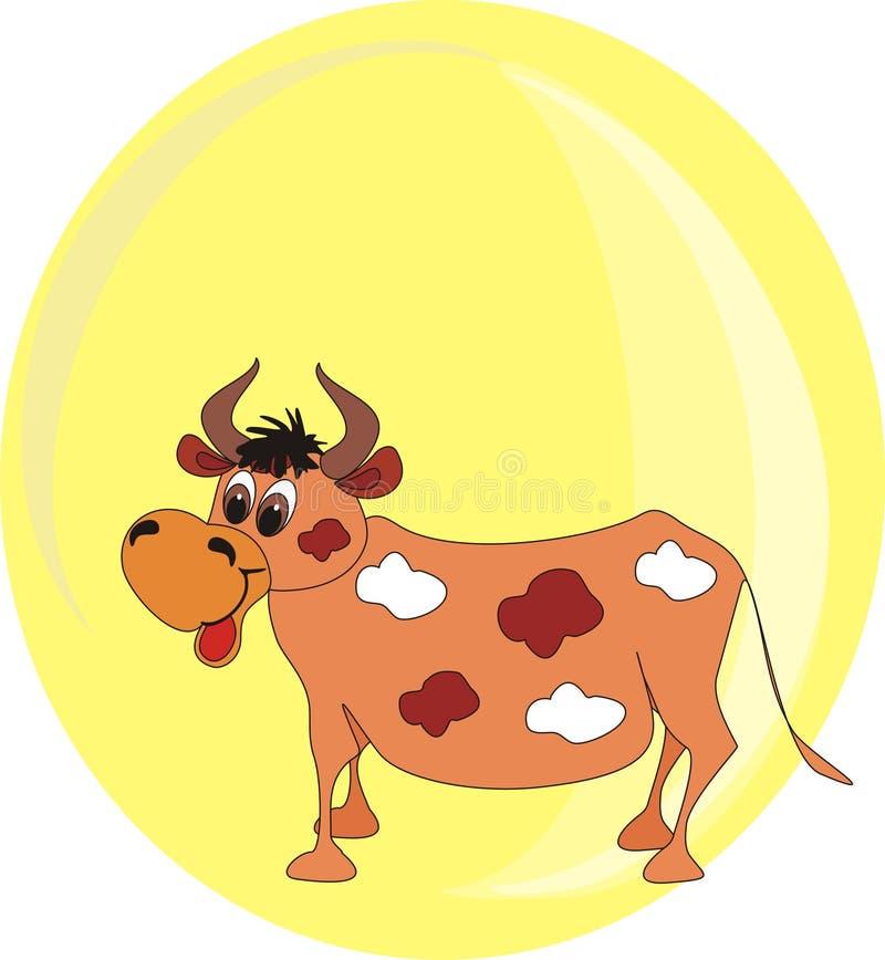 Download El Año Nuevo Del Toro En Un Fondo Amarillo Stock de ilustración - Ilustración de figura, fondo: 7277497