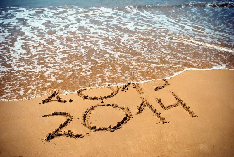 El Año Nuevo 2014 es concepto que viene fotografía de archivo libre de regalías