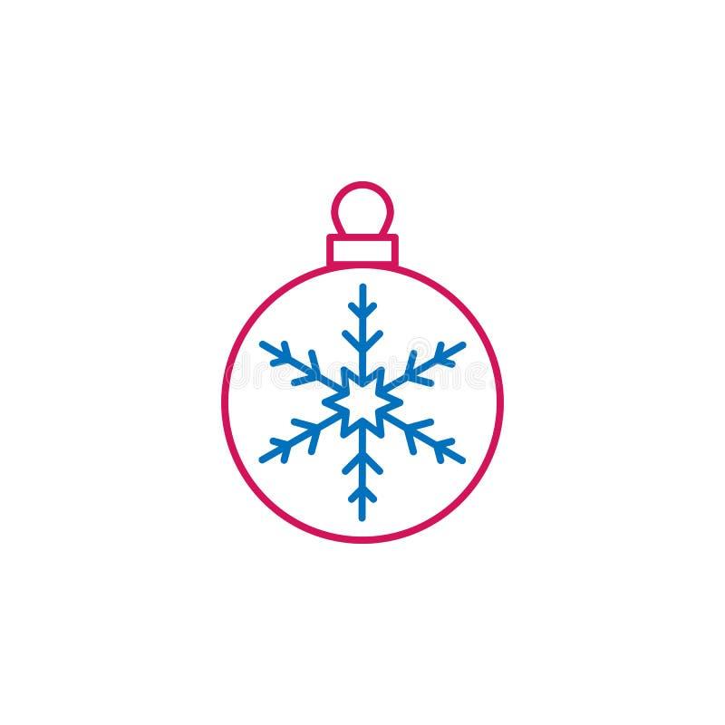 El Año Nuevo, la Navidad, decoraciones de la celebración ballcolored el icono Puede ser utilizado para la web, logotipo, app móvi libre illustration