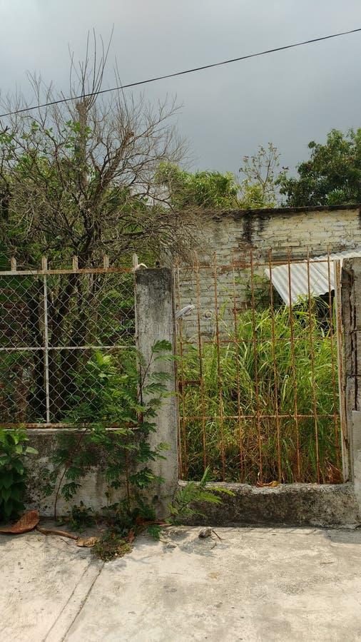 El abandonada de la casa/casa de terror/cazó la casa/la casa solitaria foto de archivo