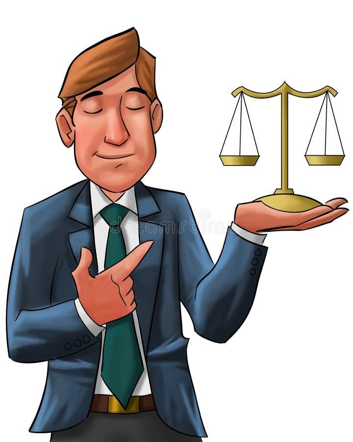 El abogado ilustración del vector
