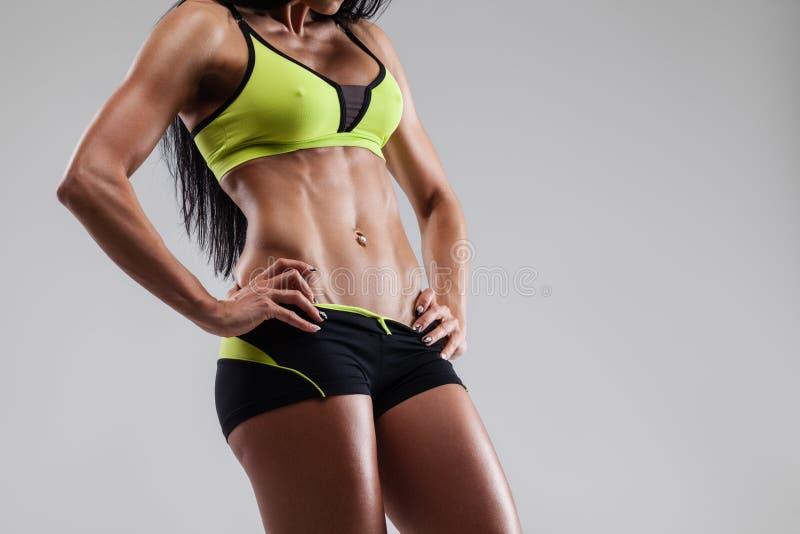 El ABS muscles aptitud fotos de archivo libres de regalías