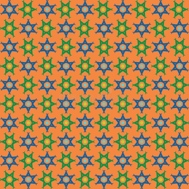 El abstrct inconsútil del vector tejó el ornamento ilustración del vector