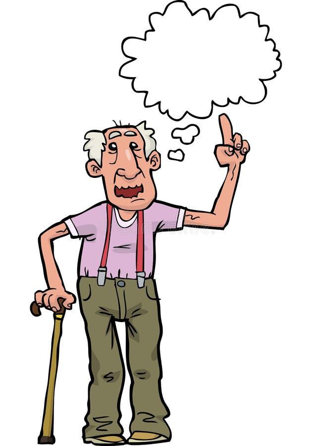 El abuelo de la historieta dice stock de ilustración