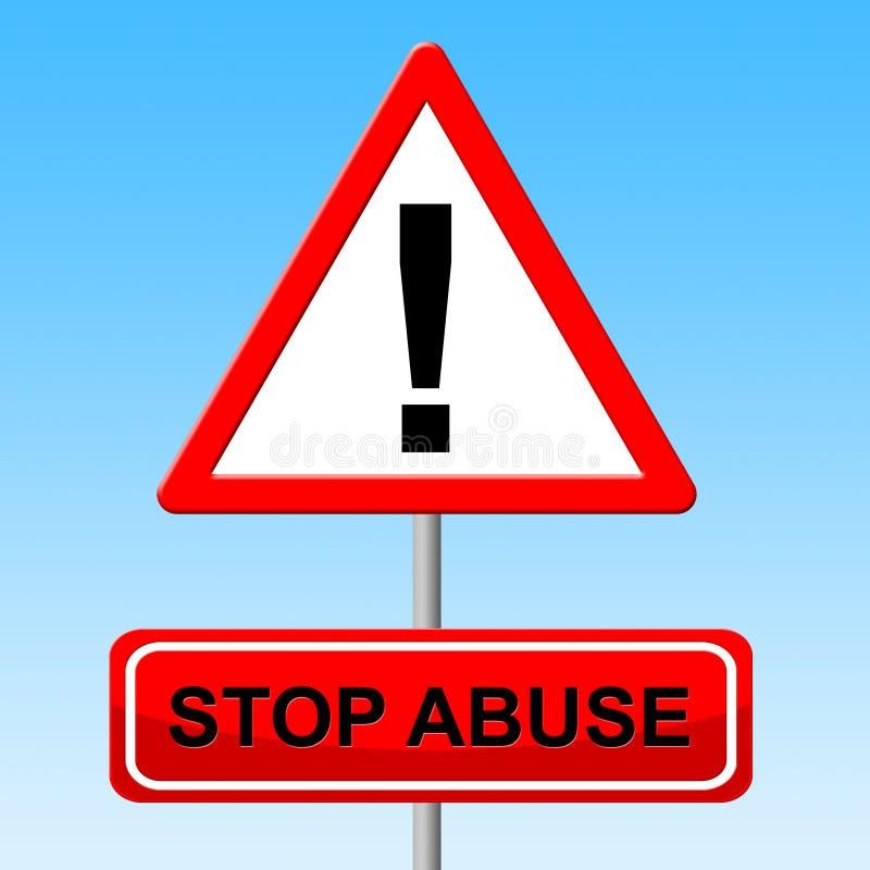 El abuso de la parada indica la señal y el peligro de peligro libre illustration
