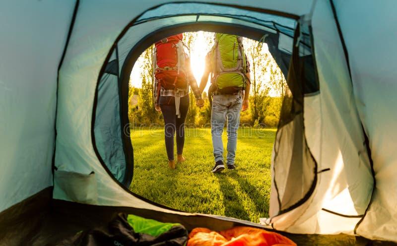 El acampar de Letfoto de archivo
