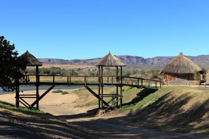 El acampar en el barranco del río de los pescados en Namibia imágenes de archivo libres de regalías