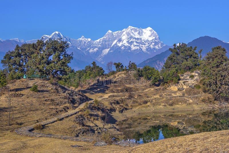 El acampar en Himalaya foto de archivo