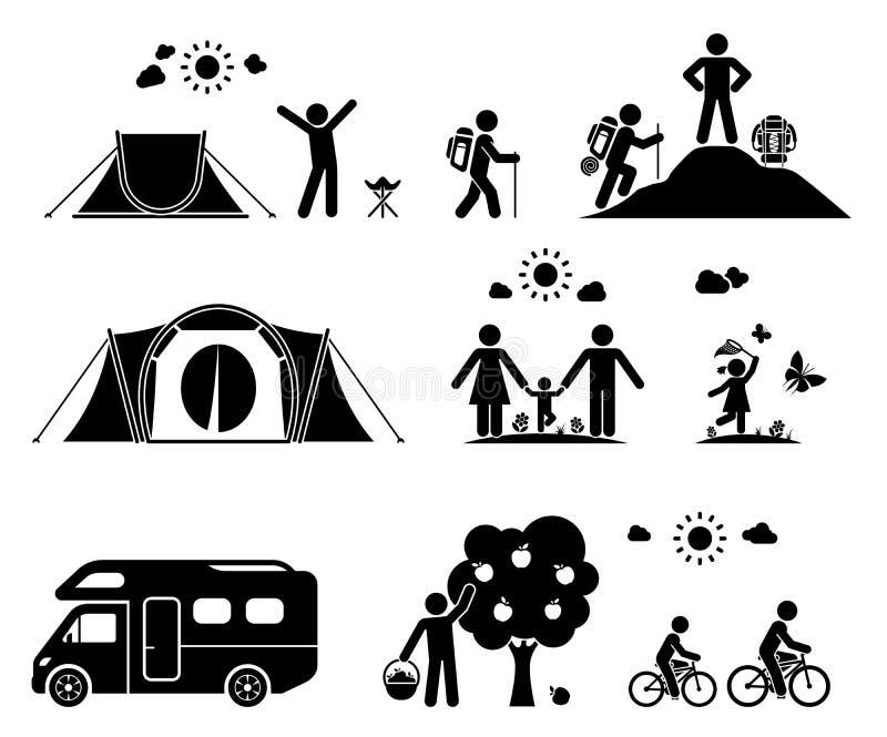 El acampar en la naturaleza imágenes de archivo libres de regalías
