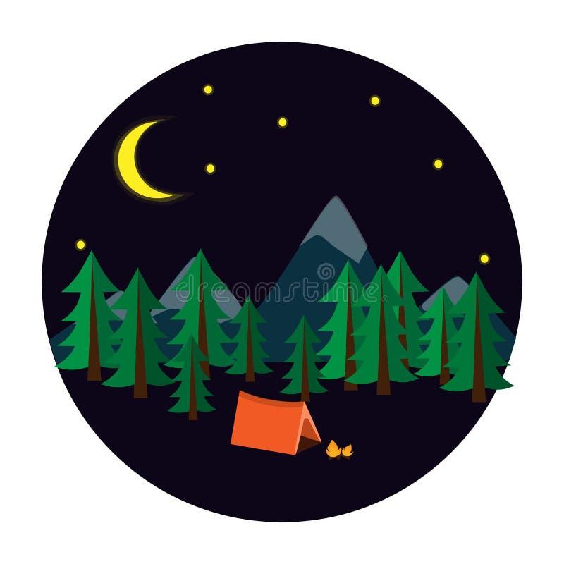 El acampar en una tienda imagen de archivo libre de regalías