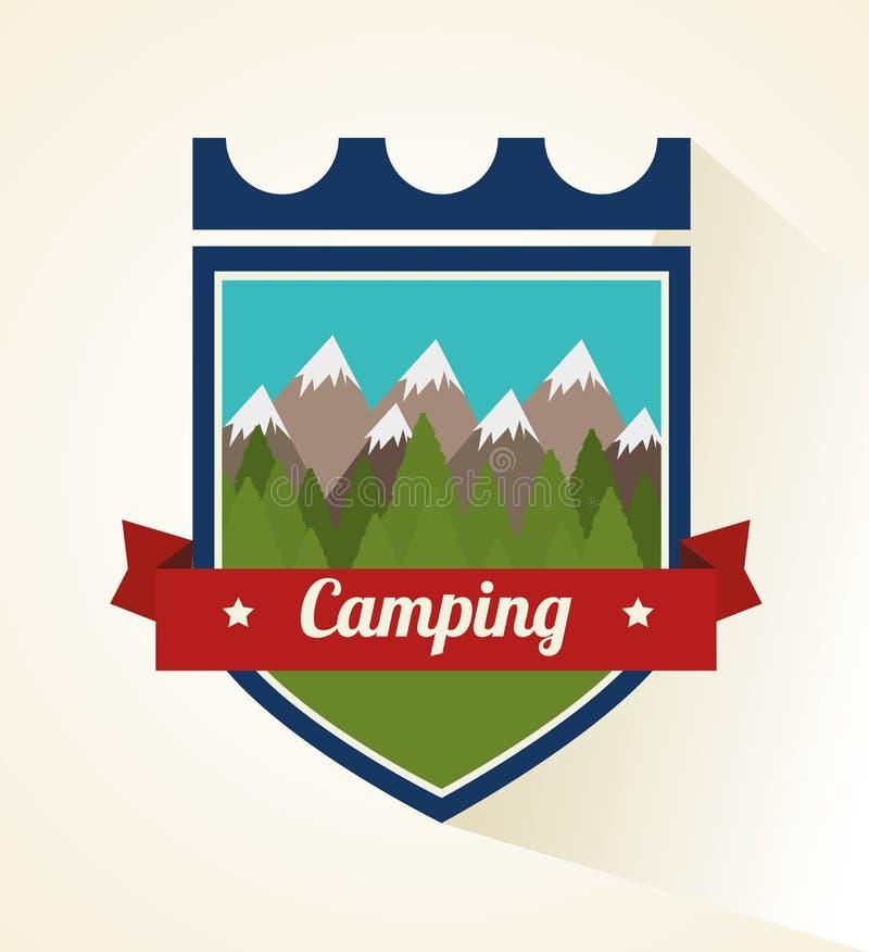 El acampar y viaje del verano ilustración del vector