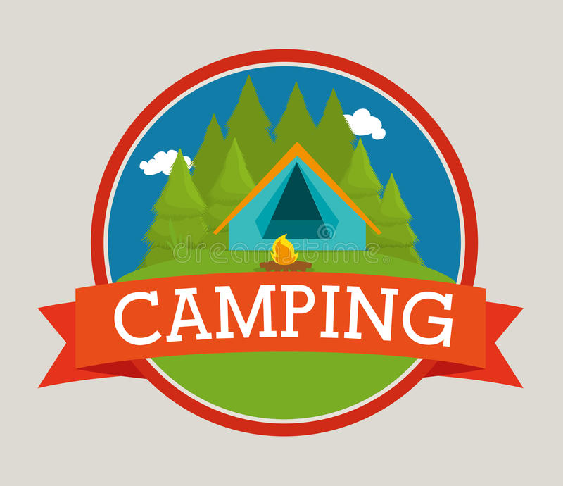 El acampar y viaje del verano libre illustration