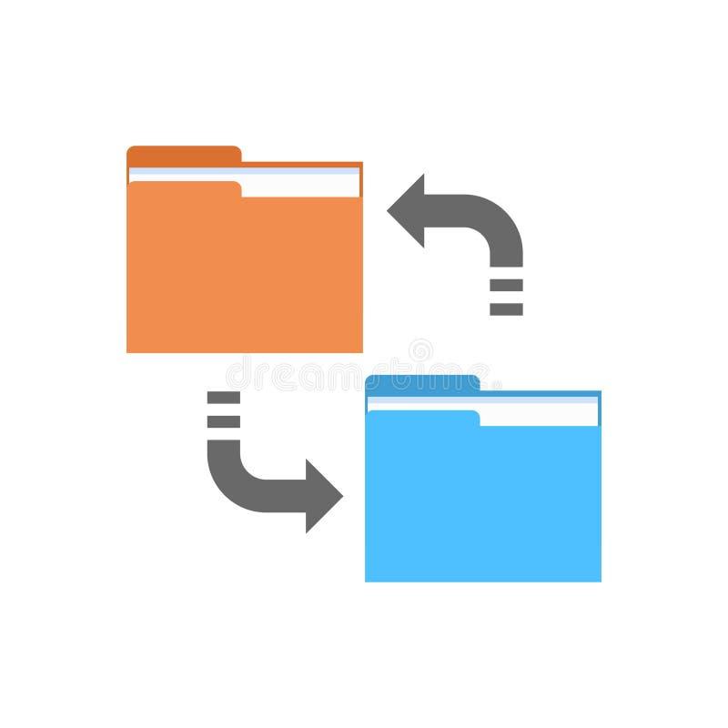 El acceso a bases de datos de la conexión del ordenador del icono de la sincronización de datos sincroniza tecnología ilustración del vector