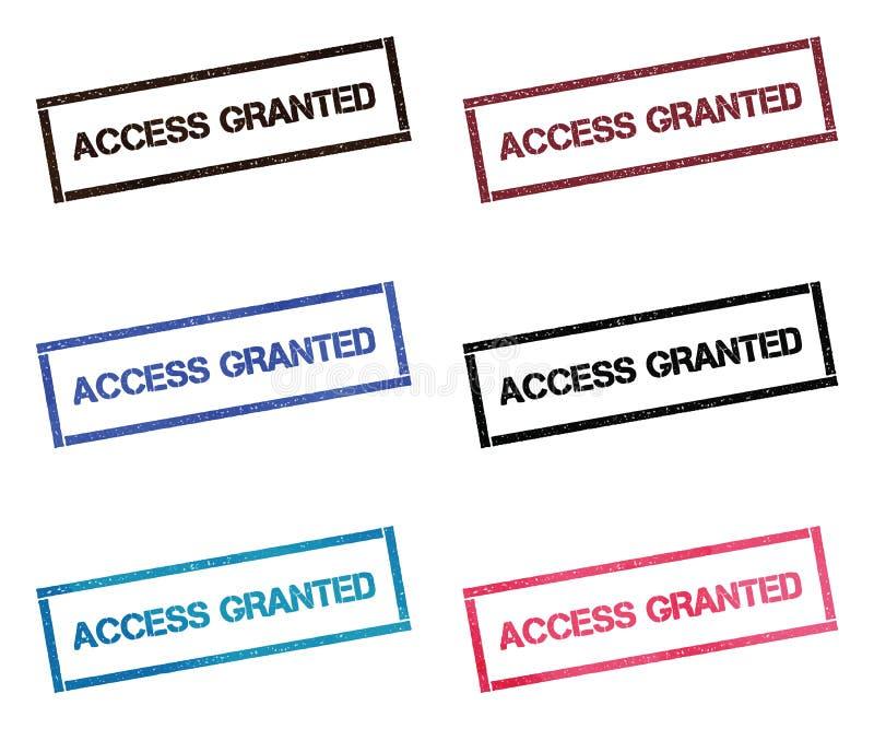 El acceso concedió la colección de sello rectangular libre illustration