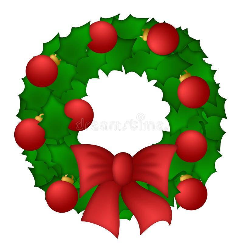 El acebo sale de la guirnalda de la Navidad libre illustration