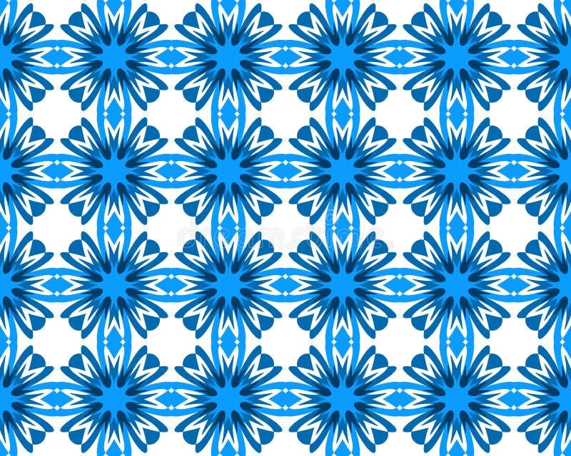 El aciano azul de la geometría abstracta florece modelo inconsútil libre illustration