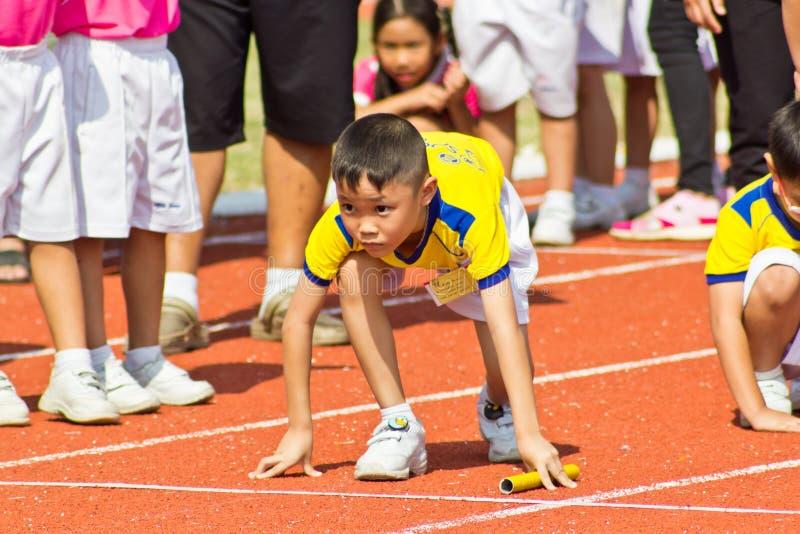 El acontecimiento del día del deporte de los niños fotos de archivo