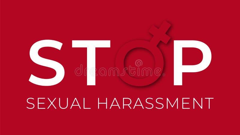 El acoso sexual para el ejemplo ilustración del vector