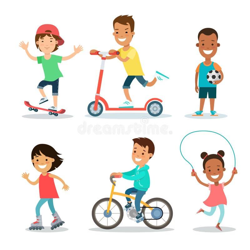 El Active se divierte el sistema del plano de los niños de los adolescentes libre illustration