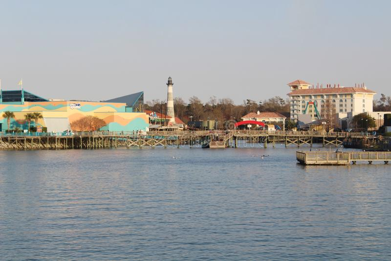 El acuario de Ripley en el embarcadero en Myrtle Beach fotografía de archivo