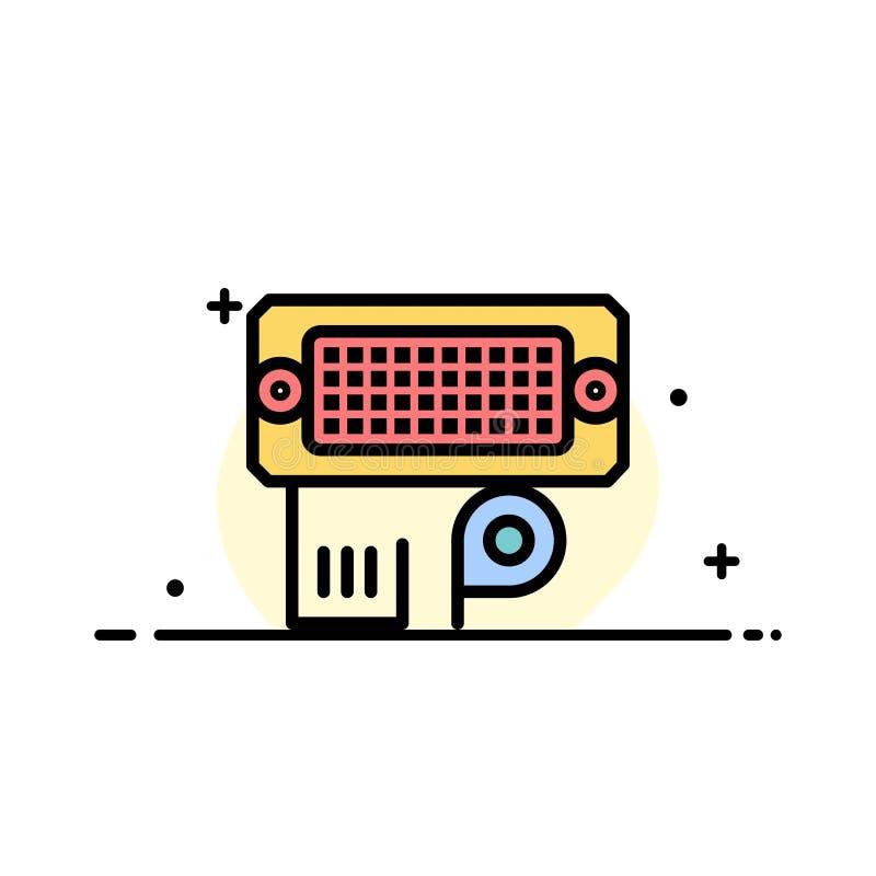 El adaptador, conexión, datos, línea plana entrada del negocio llenó la plantilla de la bandera del vector del icono libre illustration