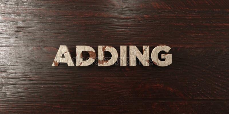 El adición - título de madera sucio en arce - de 3D rindió imagen común libre de los derechos ilustración del vector