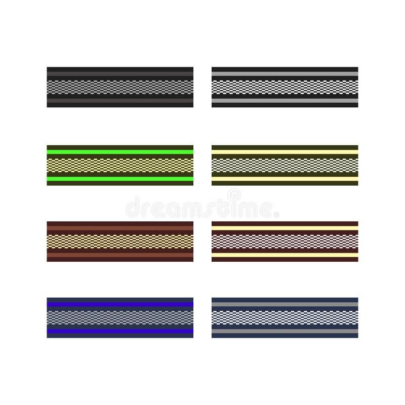 El adorno étnico industrial tradicional de la tela en la materia textil de la tela, adorna y texturiza el telar fotografía de archivo