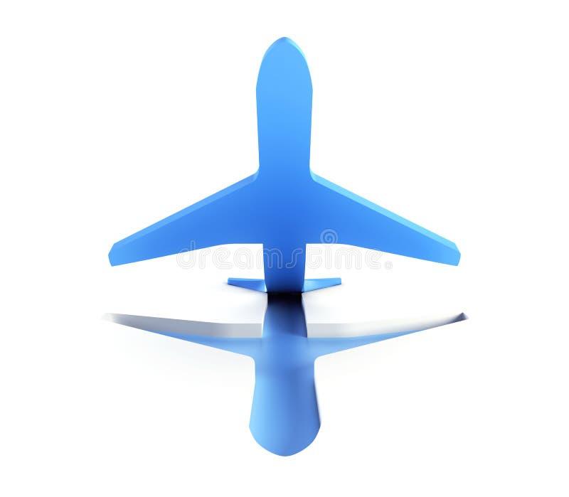 El Aeroplano Simbólico Saca Imágenes de archivo libres de regalías