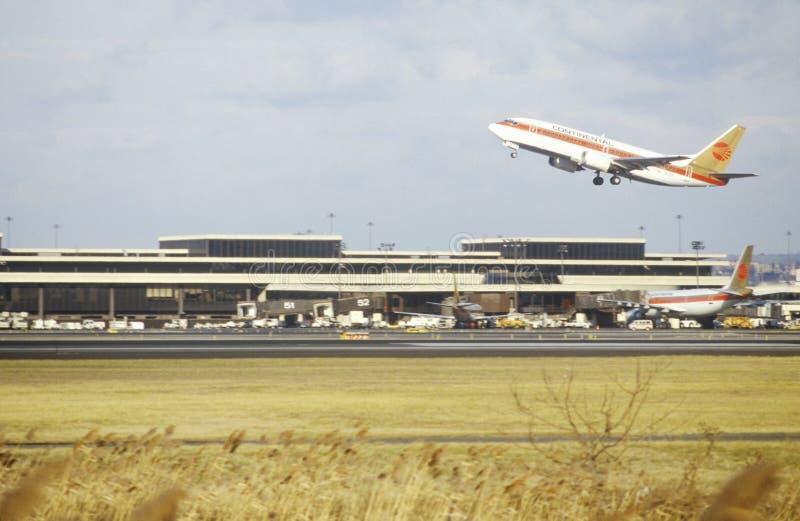 El aeropuerto de Newark en New Jersey fotografía de archivo libre de regalías