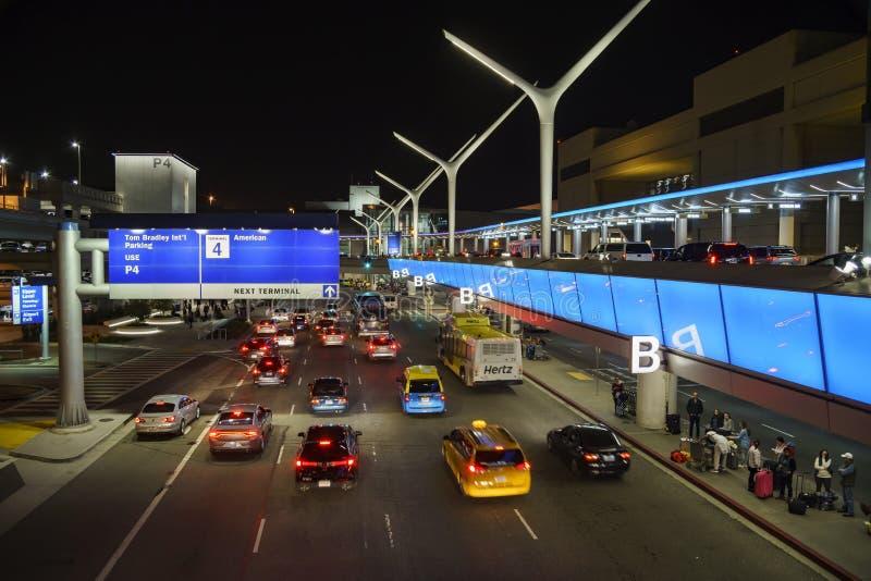 El aeropuerto internacional ocupado de Los Ángeles foto de archivo