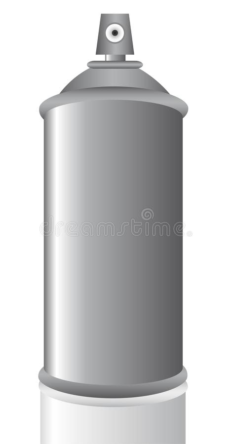 El aerosol puede gris ilustración del vector