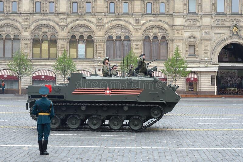 El ` aerotransportado multiusos de Rakushka del ` del veh?culo blindado de transporte de personal BTR-MDM imágenes de archivo libres de regalías