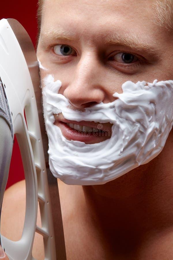 El afeitar aventurado foto de archivo libre de regalías