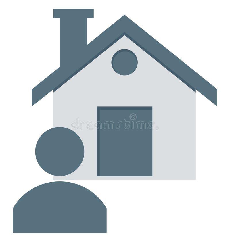 El agente de la propiedad, agente de la propiedad inmobiliaria Isolated Vector Icons puede ser se modifica con cualquier estilo stock de ilustración