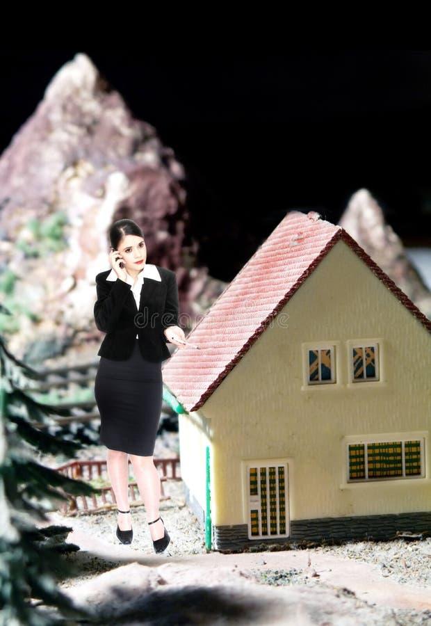 El agente inmobiliario imagen de archivo libre de regalías
