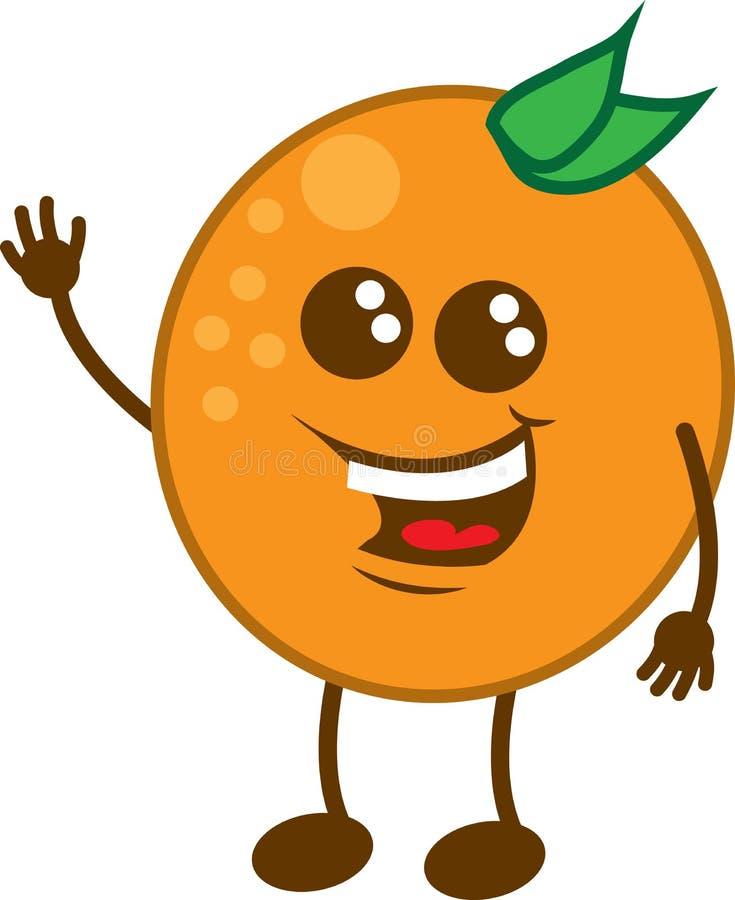El agitar anaranjado del carácter libre illustration