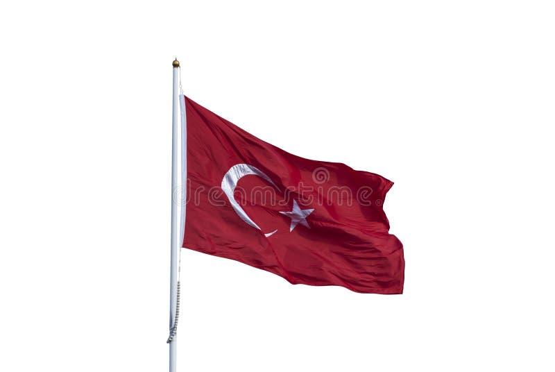 El agitar de la bandera de Turquía imagenes de archivo
